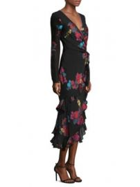 Etro - Embroidered Long Sleeve Flutter Dress at Saks Fifth Avenue