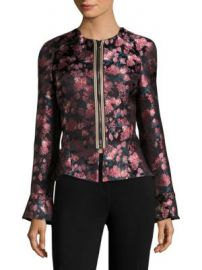 Etro - Floral Jacquard Peplum Bell-Sleeve Jacket at Saks Off 5th