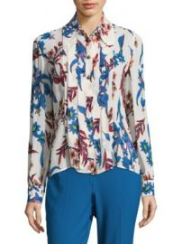 Etro - Pleated Floral Silk Blouse at Saks Fifth Avenue