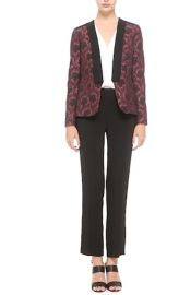 Etro Floral Jacquard Jacket in Black Red at Nordstrom