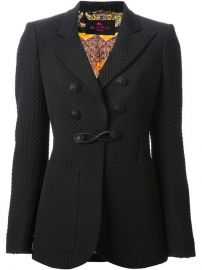 Etro Patterned Double Breasted Blazer - at Farfetch
