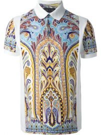 Etro Printed Polo Shirt - at Farfetch