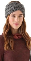 Eugenia Kim Lula Chunky Turban Headband in grey at Shopbop