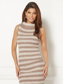 Eva Mendes Collection Luana Stripe Sleeveless Sweater at NY&C