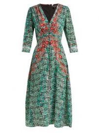 Eve seaweed-printed silk crepe de Chine dress at Matches