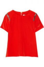 Eveil woven silk top at The Outnet