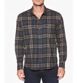 Everett Shirt Blue Ashes Lance Plaid by Paige at Paige