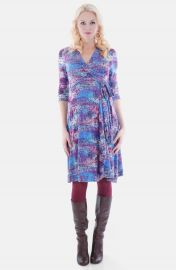 Everly Grey Kaitlyn Maternity Wrap Dress at Nordstrom