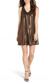 Everly Metallic Racerback Shift Dress at Nordstrom