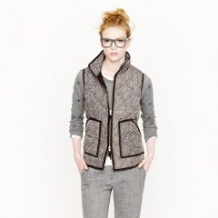 Excursion Vest in Herringbone at J. Crew