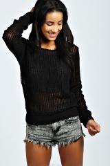 Eydie Mesh Sweater at Boohoo