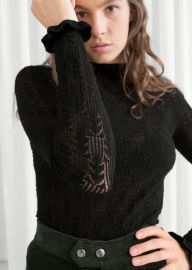 Eyelet Knit Top at & Other Stories