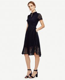 Eyelet flare shirtdress at Ann Taylor