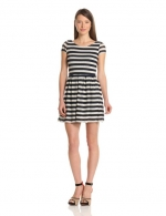 Eyelet knit stripe dress by Eight Sixty at Amazon