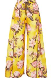 F R S For Restless Sleepers - Apate floral-print satin-twill wide-leg pants at Net A Porter