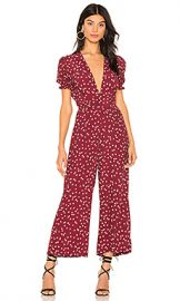 FAITHFULL THE BRAND Bonnie Jumpsuit in Berry Betina Floral from Revolve com at Revolve
