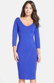 FELICITY and COCO Midi Sheath Dress in Blue at Nordstrom