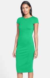 FELICITY and COCO Seamed Pencil Dress in Green at Nordstrom