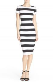 FELICITY and COCO Stripe Midi Sheath Dress at Nordstrom