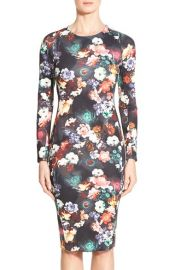 FELICITY andamp COCO Print Scuba Midi Dress at Nordstrom