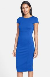 FELICITY andamp COCO Seamed Pencil Dress in Blue at Nordstrom