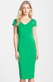 FELICITY andamp COCO V-Neck Body-Con Midi Dress in Green at Nordstrom