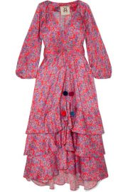 FIGUE - FREDERICA FLORAL-PRINT SILK CREPE DE CHINE MAXI DRESS - PINK at Net A Porter