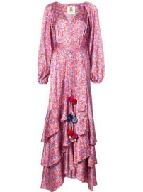 FIGUE FREDERICA FLORAL WRAP DRESS at Farfetch