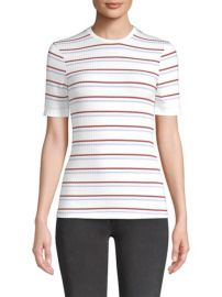 FRAME - STRIPED CREWNECK TEE at Saks Fifth Avenue