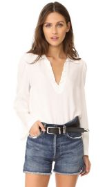 FRAME Whip Stitch Blouse at Shopbop