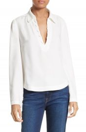 FRAME Whipstitch Blouse at Nordstrom