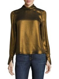 FRAME - Concealed Lurex Blouse at Saks Fifth Avenue