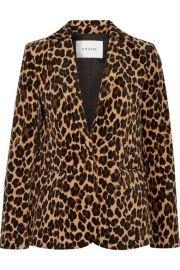 FRAME   Leopard-print cotton-blend velvet blazer at Net A Porter