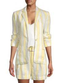 FRAME - Striped Linen Blazer at Saks Fifth Avenue
