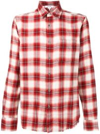 FRAME CHECK SHIRT - RED at Farfetch