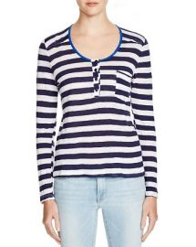 FRAME Le Nautical Stripe Henley Top at Bloomingdales