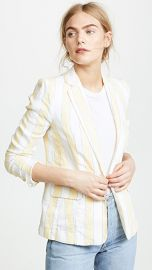 FRAME Linen Stripe Blazer at Shopbop