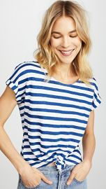 FRAME Linen Tie Up Tee at Shopbop