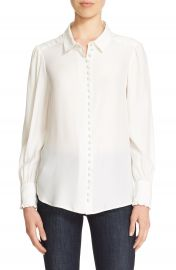 FRAME Long Sleeve Silk Blouse at Nordstrom