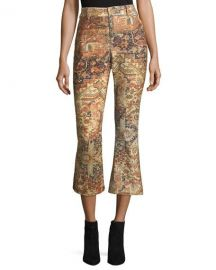 FRAME Persian Printed Flared Pants   Neiman Marcus at Neiman Marcus