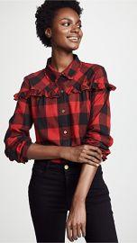 FRAME Ruffle Button Up Shirt at Shopbop