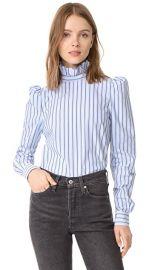 FRAME Ruffle Neck Shirt at Shopbop