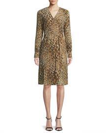 FRAME Sgt  Pepper Leopard-Print Silk Dress at Neiman Marcus