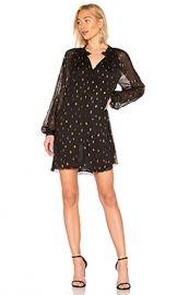 FRAME Smocked Raglan Dress in Noir from Revolve com at Revolve