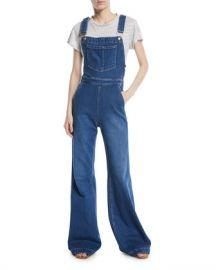 FRAME Wide-Leg Denim Overalls at Neiman Marcus