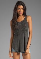 FREE PEOPLE Day Tripper Tank in Black - Free People at Revolve