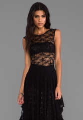 FREE PEOPLE French Court Slip in Black at Revolve