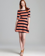 FRENCH CONNECTION Dress - Fun Stripe Jersey Flare at Bloomingdales