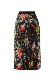 FUZZI BLACK FLORAL PLEATED  at Rent The Runway