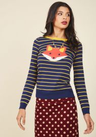 Face the Fox Sweater at ModCloth